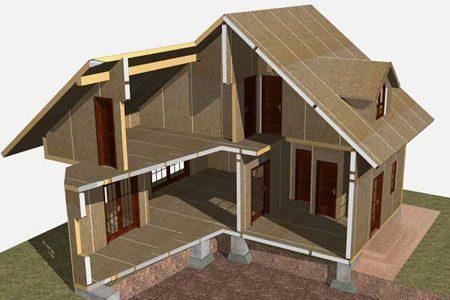 Строительство зданий на основе стеновых SIP панелей в Владикавказе