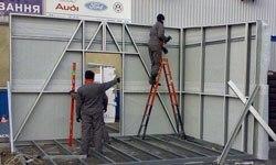 Строительство торговых павильонов в Владикавказе БМЗ